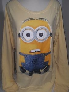DespicableMe yellow minion sheer back top sz L